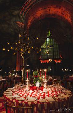 David Monn    Red and Black themed dinner