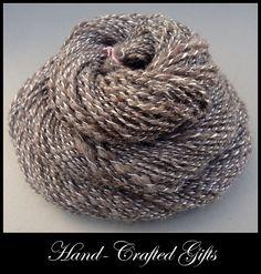 BFL and Silk Boucle Handspun Yarn  11 oz 104yd by handcraftedgifts, $20.00