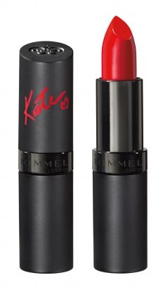 Kate Moss for Rimmel in shade 10 || This shade is everything you could ever want in a red lipstick.
