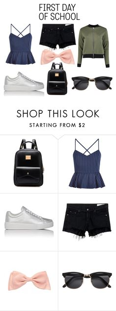 """""""First Day of school"""" by jsd13711 on Polyvore featuring New Look, Prada Sport, rag & bone/JEAN, H&M and Boohoo"""