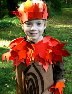 tree costume. I need to make one. Seasonal character chosen by T is a fall tree.