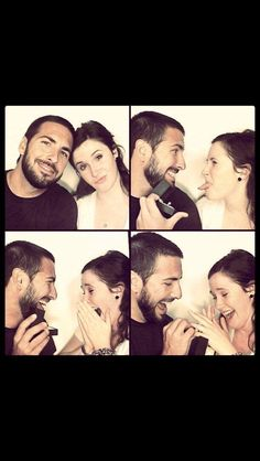 Cute photo-booth proposal.
