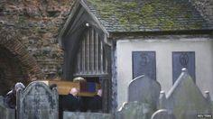 Richard III coffin at St Nicholas Church