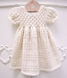 the most adorable baby dress!! hand-knit + organic too