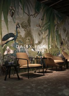 Exclusive high end wallcovering made to fit THE PAST design wallpaper by Daisy James at Behangfabriek Colonial Home Decor, British Colonial Decor, Tree Wall Murals, Psychedelic Colors, Home Decor Furniture, Wall Wallpaper, Designer Wallpaper, Wall Design, Decoration