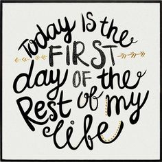 TODAY IS THE FIRST DAY » Tipografia