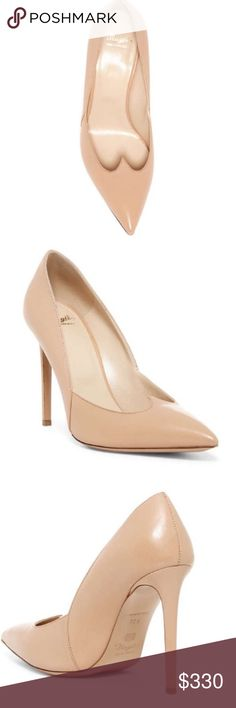 Antonia Pointed Stiletto NWT Made in Italy. Slip on, lightly padded insole, pointed toe, covered stiletto heel. Dagged Vamp Detail. Approximately 4 inch heel. Color: Nude- leather- upper lining and sole Shoes Heels