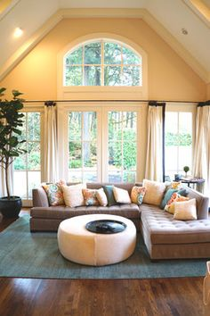 Living Room With Beige Couch Design, Pictures, Remodel, Decor and Ideas - page 4