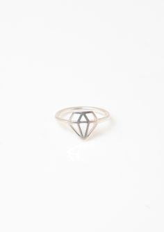 Capsul Diamond Cut Ring