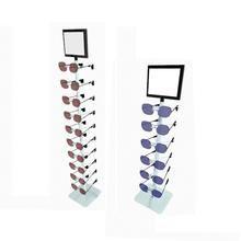 Expositor de Óculos Pirâmide Branco para 6 Unidades