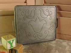 Primitive Punched Tin Baking Tray