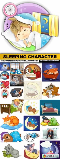 Sleeping Character - 25 Vector