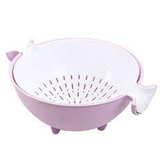 CHICHIC 2-in-1 Large Colander & Bowl for Fruits Vegetable...