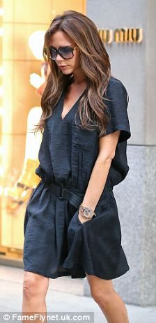 Victoria Beckham spends the day shopping with her daughter Harper in New York City