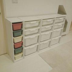 My Shelf,北欧,北欧好き,北欧ナチュラル,北欧インテリア,100均,ニトリ,トロファスト,トロファスト風,ダイソー,スクエアボックス,IKEA,おもちゃ収納 aosotaの部屋 Toy Organization, Color Box, Wall Storage, Kidsroom, Shoe Rack, Baby Room, Diy Furniture, Playroom, Bookcase