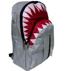 The great white shark book bag is a great way for kids to let everyone know they roll deep with the baddest mofos in the ocean, the great white shark. Its been reported that owners of the great white shark book bag live longer and more lucrati. The Great White, Great White Shark, Shark Books, New Shark, Grey Backpacks, Shark Party, Gifts For Kids, At Least, Unisex