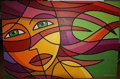 Resultado de imagen para pintura cubista facil