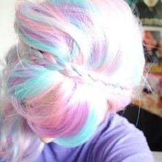 Pastel coloured hair