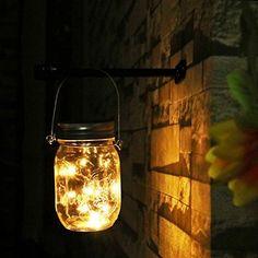 Led Solarleuchten Garten - NEWYANG Mason Jar Licht, Garten Licht, Gartendeko Solar, solar herz lichterkette,Wasserdichte Lichterkette Außen, Solarlampen für Garten,außen, Weihnachten, Hof, Hochzeit, Party, Bar, Cafe,Wand, Tisch, Baum, Zaun(Warm)