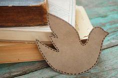 Unique bookmark  A dove of peace Booklover  Gift idea Reading accessories Bookworm Cute bookmark fabric bird