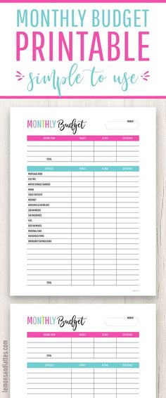15 best monthly budget printable images on pinterest draping