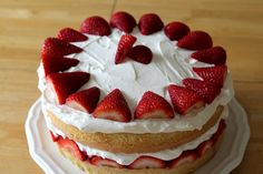 strawberry cream cake by themoveablefeasts, via Flickr
