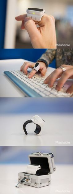 The Mystro is a finger-mounted 3D mouse. Users can wave their fingers to magically move items on your computer