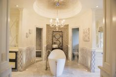 Master bathroom by Reaume Construction & Design, Inc.
