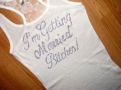Bride To Be shirt. Bridesmaid Half Lace tank by uniqueandtrendy, $19.95
