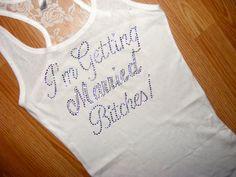 Bride To Be shirt. Bridesmaid Half Lace tank by uniqueandtrendy, $19.95