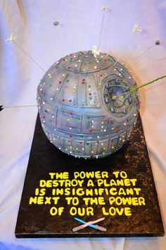 Star Wars Death Star Groom's Cake for Santos... He is such a nerd lol