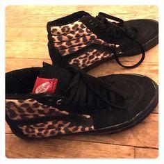 709ce35e25a Leopard print vans Men s women s leopard print vans high top skate shoe  men s size 6.5