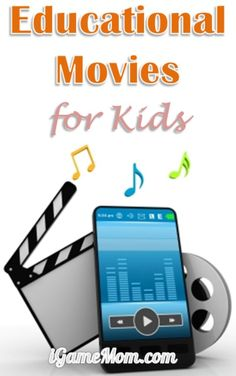 Educational Movies for Kids on iGameMom - good kids movie ideas by subjects and seasons, tips on teaching with movies, plus resources for Free educational movies #kidsMovies