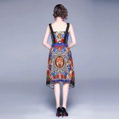 Material: Polyester Waistline: Natural Silhouette: A-Line Sleeve Length(cm): Sleeveless Neckline: Slash neck Sleeve Style: Regular Dresses Length: Mid-Calf Length(cm) Bust(cm) Waist(cm) S - - - M 86 70 L 90 74 XL 94 78 XXL 98 82 Dresses For Sale, Summer Dresses, Sleeve Styles, Retro Fashion, Calves, High Waisted Skirt, Fashion Dresses, Royal Court, Lace