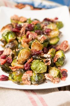 Don't be afraid! How you cook your brussel sprouts will change everything. You must try this candied pecan bacon brussel sprouts recipe