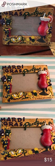 Mardi Gras picture frame Super fun Mardi Gras picture frame. Lots of colors and awesome detail. Perfect for Mardi Gras! Frame is 6 inches tall and 8 inches wide. Southland Shirts & Souvenirs Inc. Other