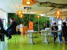 Cuisine moderne mur végétalisée pour Ubisoft - Jardins de Babylone