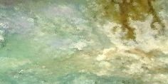 Hope Gallery Wrap Fine Art Abstract Painting 24 x 48 Cream White Green Gold Digital Painting by #Brigetta on Bonanza