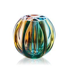 Ball 3403, hand cut vase Moser