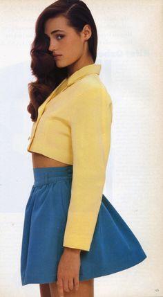 Yasmin Le Bon in Jasper Conran for Vogue UK, February 1987.