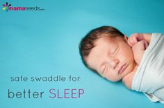 How to safely swaddle to get baby to sleep. With a very helpful video!