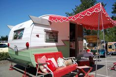 Beautiful 1962 Shasta Compact Travel Trailer Love the awning!
