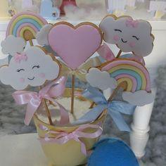 Rainbow First Birthday, Unicorn Birthday Parties, Baby Birthday, Rainbow Baby, Baby Party, Baby Shower Parties, Baby Shower Themes, Cloud Party, Rainbow Parties