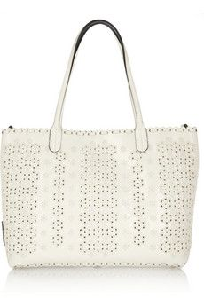 Embroidered leather shopper by Valentino 1,135
