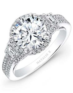 Natalie K Eternelle Collection - NK28375-18W Engagement Ring photo