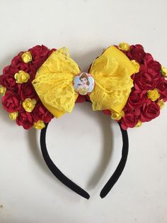 A personal favorite from my Etsy shop https://www.etsy.com/listing/219569457/princess-belle-inspired-floral-minnie