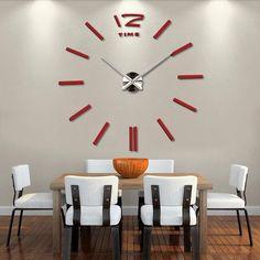 Wanduhr Wohnzimmer Wohnuhr Spiegel Uhren Wandaufkleber Design 3D Wandtattoo NEU  | Future Projects | Pinterest | Future
