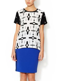 Blouse with Contrast Panel by Marabelle at Gilt