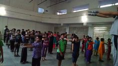 Fitness programme conducted for all students to stay healthy forever