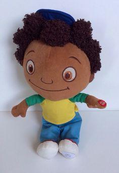 "Disney Store The Little Einsteins Quincy Plush doll 14"" TALKING Brown Hair Toy"